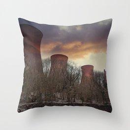 Sunset At Ironbridge Power Station Throw Pillow