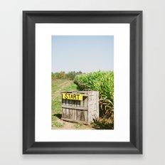 Start Box Framed Art Print