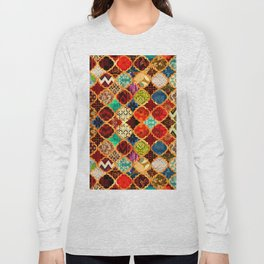 -A32- Epic Colored Traditional Moroccan Artwork. Long Sleeve T-shirt