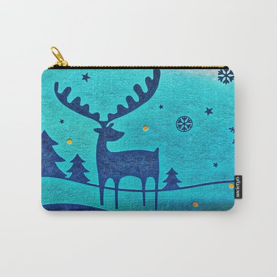 Capri Winter Reindeer Carry-All Pouch