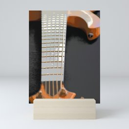 Morphed Portrait of an Electric Bass Mini Art Print