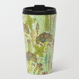 Green vegetables pattern. Travel Mug