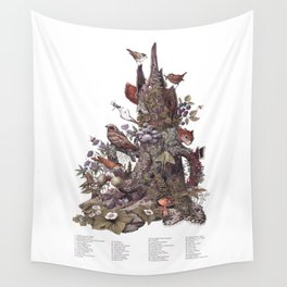 Stump (with labels) Wall Tapestry