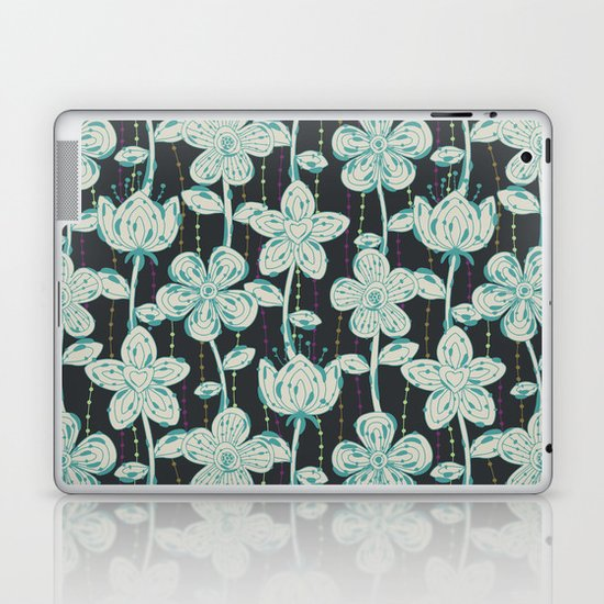 My grey spotted flowers. Laptop & iPad Skin