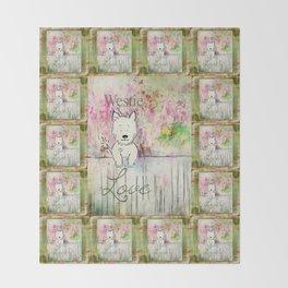 Westie Love ~ West Highland Terrier Throw Blanket