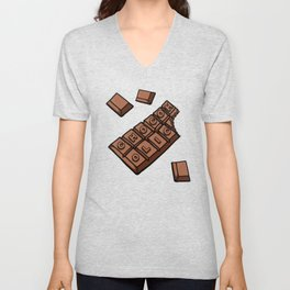 Chocoholic Illustration Unisex V-Neck