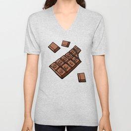 Chocoholic Illustration Unisex V-Neck