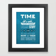 Doctor Who Typography Framed Art Print
