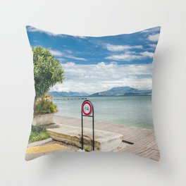Garda Lake Throw Pillow