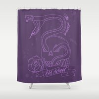 old school Shower Curtains featuring Old School by TheAsmek