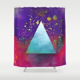 Triangle Composition V Shower Curtain