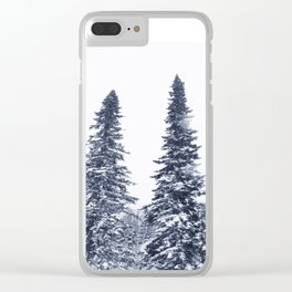 Fir-trees Clear iPhone Case
