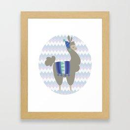 Winter Llama Framed Art Print