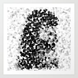 Inked Courage Black and White Crystallised Art Print