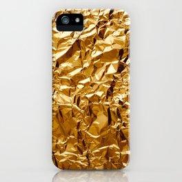 Crumpled Golden Foil iPhone Case