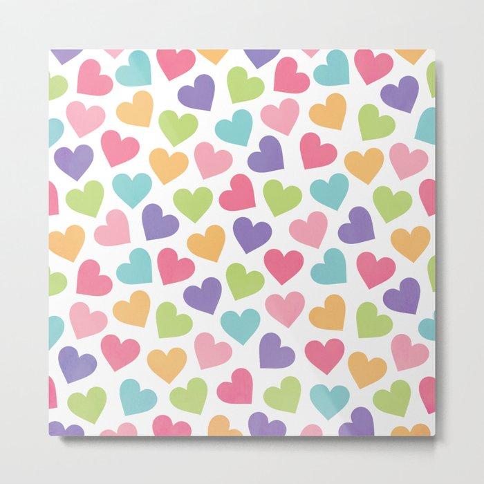 LOVE HEARTS Metal Print