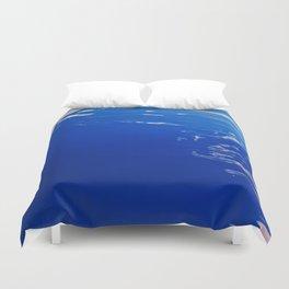 Neon Blue Ocean Duvet Cover