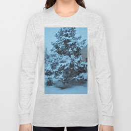 Snow Covered Pine Tree Long Sleeve T-shirt