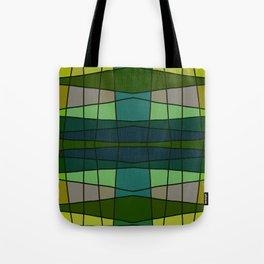 Green Pattern Turtle Tote Bag