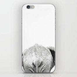 Black and white elephant animal jungle iPhone Skin