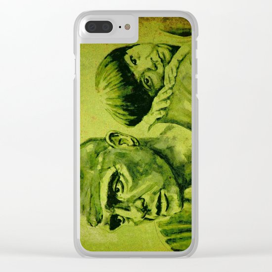 Marlon Brando and the girl Clear iPhone Case