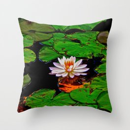 From the Lilypads Throw Pillow