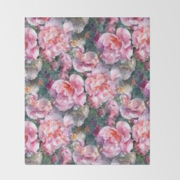 Pink floral pattern Throw Blanket