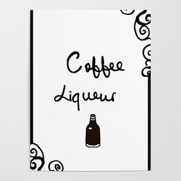 Coffee Liqueur Poster