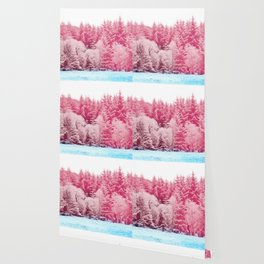 Candy pine trees Wallpaper