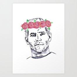 Cullen Flower Crown Art Print