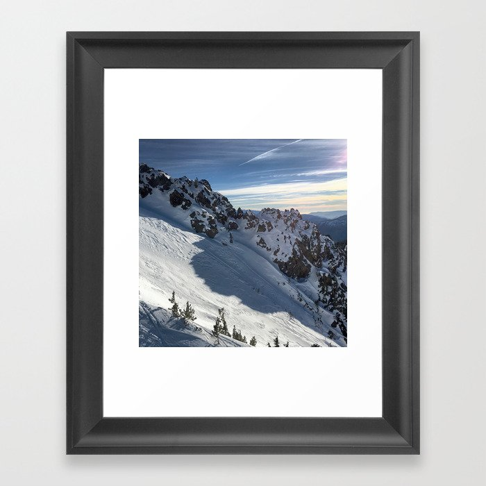 Mammoth Mountain Perfect Day Framed Art Print