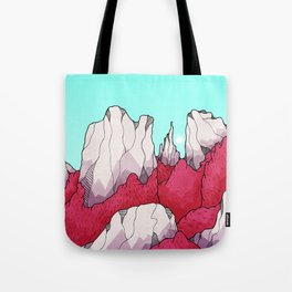Red forest hills Tote Bag