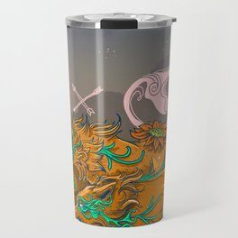 WOLF and FLOWER Travel Mug