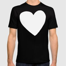 Big Heart Mens Fitted Tee MEDIUM Black