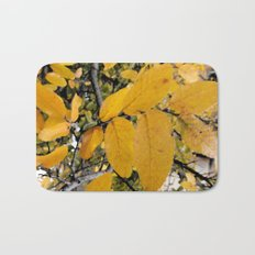 Yellow Leaves of Autumn Bath Mat