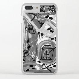 Série Gris 1 de 4 Paint Marker Acrylique/Acrylic Clear iPhone Case