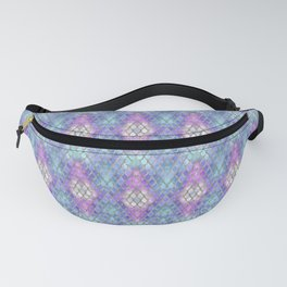 Pastel Diamond Mermaid Scales Fanny Pack