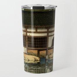 Ukiyo-e, Hasui Kawase, Part of the Byôdô-in Temple at Uji Travel Mug