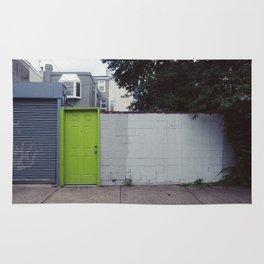 a green door Rug