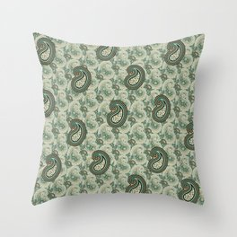Excited Green Throw Pillow
