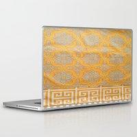"orange pattern Laptop & iPad Skins featuring OrangE paTTern by ""CVogiatzi."