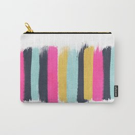 Inez - Brushstroke print in bold, modern colors Carry-All Pouch