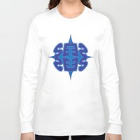 typo Long Sleeve T-shirts featuring Abstract Typo by Ákos Kőrös