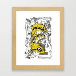 rat pile Framed Art Print