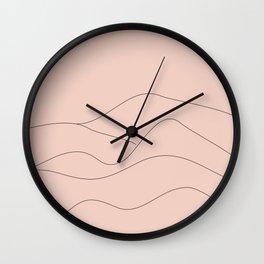 Pink Mountains Minimal Wall Clock