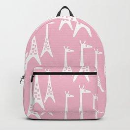 Mid Century Modern Giraffe Pattern 226 Pink Backpack