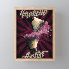 Make up Artist, Makeup art, Fashion Framed Mini Art Print