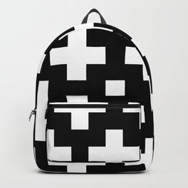 black-and-white pattern Yakshi Backpack