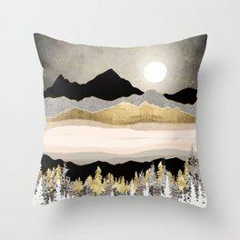 Winter Moon Throw Pillow
