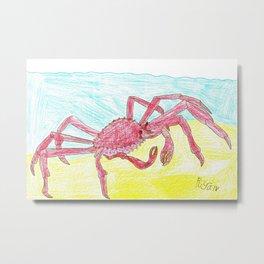 Giant Japanese Spider Crab Metal Print